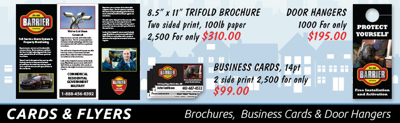 SecurityGraphics.ca provides paper media printed products including business cards, brochures, and door hangers